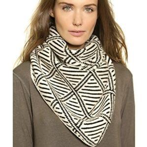 New!Madewell Diamond Bandana Triangle Scarf Wool